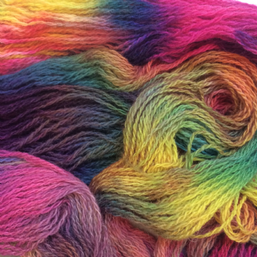 Hand Dyed Shetland Wool 50gms